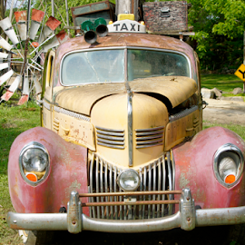 You Call For A Taxie by Tina Hailey - Transportation Automobiles ( old car, vintage, tinas capture moments, taxie,  )
