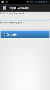 Height Calculator - screenshot
