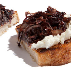 Sautéed Radicchio and Goat Cheese Bruschetta Recipe