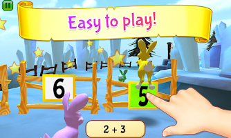 Screenshot of Bunny Math Race Free