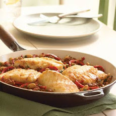 Cod with Red Pepper-Chorizo Ragout