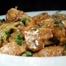 Garlic Chicken and Mushrooms in White Wine Sauce