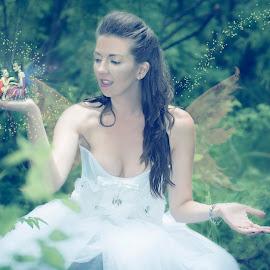 Little Fairies by Troy Young - Digital Art People ( carolynne scoffield, fancy fantasy hmua by tara, model, fairies, creative, beautiful, fairy, corset, jaclyn maier )