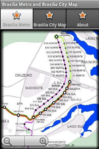 巴西利亞巴西利亞地鐵地圖
