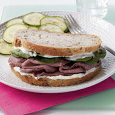 Roast Beef Sandwich with Horseradish Aioli