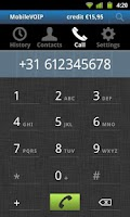 Screenshot of LowRateVoip call abroad