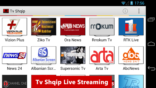 tv-shqip-live-albanian-tv for android screenshot
