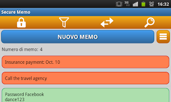 Screenshot of Secure Memo - Encrypted notes
