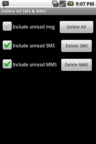 Clear All SMS MMS Free