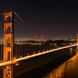 Golden Gate by Claus Dahm - Buildings & Architecture Bridges & Suspended Structures ( clear, marin, california, night, golden gate, san francisco,  )