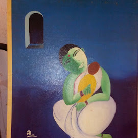 Mother & Child by Vinay Tr - Painting All Painting