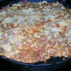 Cheesy Hamburger Skillet (Or Helper, Goulash, Cowboy Stuff)