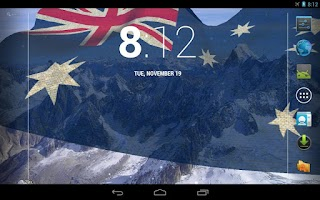 Screenshot of 3D Australia Flag LWP