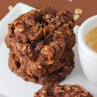 Chocolate Espresso Oatmeal Cookies