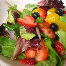Mixed Fruit, Spring Greens W. White Chocolate-Orange Vinaigrette