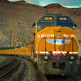 UP Special Train at Helper, UT by Dale Mellor - Transportation Trains ( land, device, transportation )