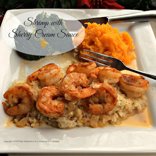 Shrimp with Sherry Cream Sauce