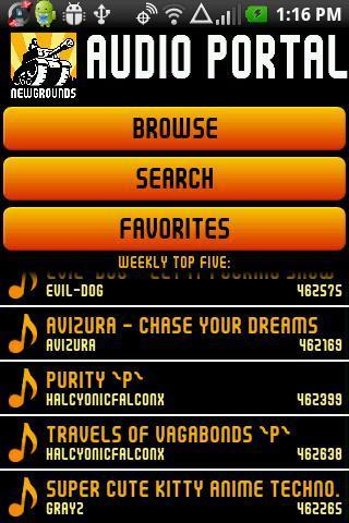 Newgrounds Audio Portal
