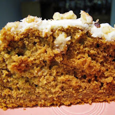 Pumpkin Spice Cake With Orange Buttercream Frosting