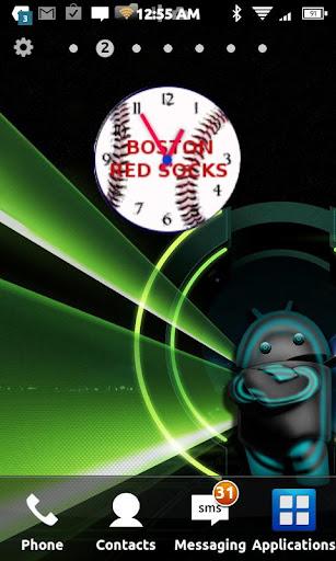Boston Red Socks clock Widget
