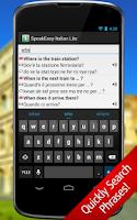 Screenshot of SpeakEasy Italian LT ~ Phrases