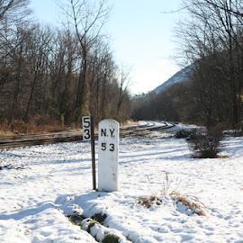 railroad mile marker by Alec Halstead - Landscapes Travel