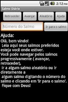 Screenshot of Salmo Diário