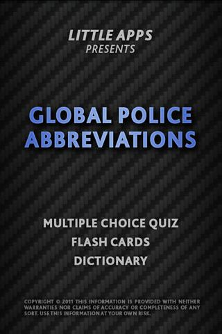 GLOBAL POLICE ABBREVIATIONS