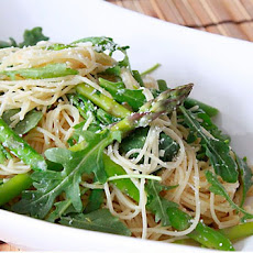 Capellini with Asparagus and Arugula