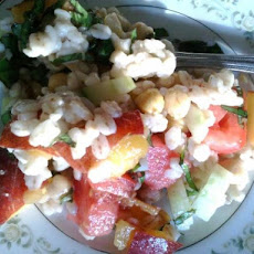 Peach-Cucumber-Barley Salad