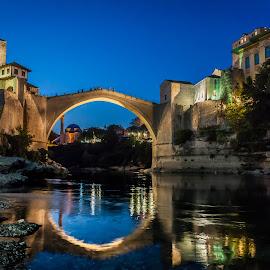 Old bridge Mostar by Wim Moons - City,  Street & Park  Historic Districts ( bridge, mostar, bosnie )