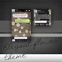 GO SMS Pro Flower Theme Free
