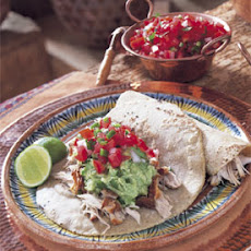 Crispy Pork with Avocado Salsa and Tomato Salsa