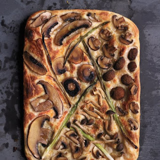 Mixed-Mushroom and Scallion Pizza