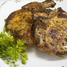 Pork Steaks With a Orange Rosemary Sauce