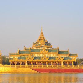 Kayawake  by ILo Woo - Buildings & Architecture Public & Historical ( landmark, myanmar, park, gold, golden )