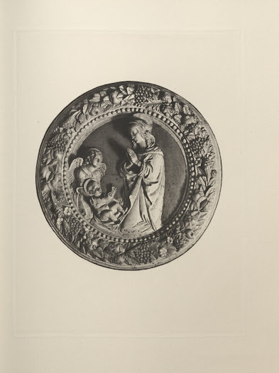 """<i>Madonna Adoring the Child, with Angel</i>, from the Rita Lydig collection <a href=""""http://nyarc.org/digital_projects/gilded_age/31072002118661.pdf#view=Fit"""">catalogue</a>. This work is attributed to the style of Andrea della Robbia."""