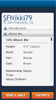 Screenshot of ChristianMingle Quick View