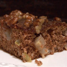 Apple Spice Cake With Pecan Frangelico Glaze