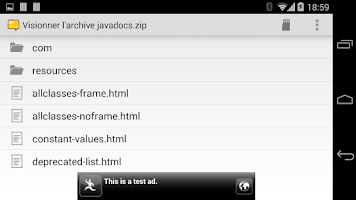 Screenshot of Zip Viewer