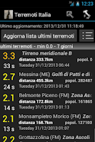 Screenshot of Terremoti Italia