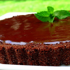 Chocolate-Glazed Chocolate Tart
