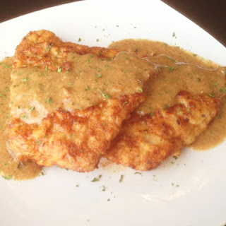 Paleo Breaded Pork Chops in Mustard Sauce