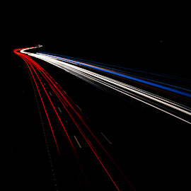 Homeward bound by Mark Helm - Abstract Light Painting ( lights, traffic, creative, m6, motorway, long exposure, night, trails )