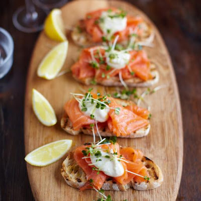 Smoked Salmon, Horseradish & Cress Toasts