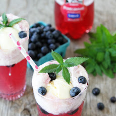 Pomegranate Blueberry Floats