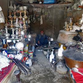 Traditional Handicraft Pots by Talib Admi - Artistic Objects Cups, Plates & Utensils