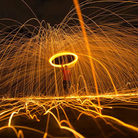 Steel wool light painting  by Justin Soh - Abstract Light Painting ( photographers, abstract, steel wool, painting, light )