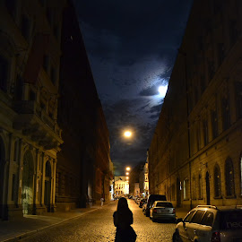 My night, my street by Marian Coman - City,  Street & Park  Street Scenes ( night photography, night, prague, street photography )