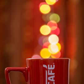 Brewing Lights by Nipun Soni - Artistic Objects Cups, Plates & Utensils ( mug, cup, diwali, coffee, artistic, light, bokeh,  )